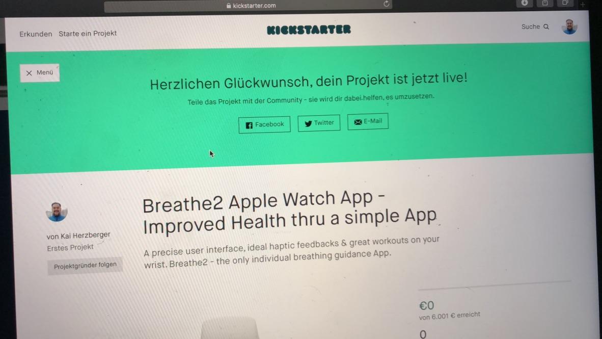 Breathe2 campaign live on kickstarter